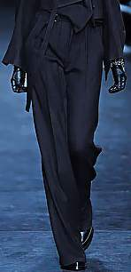pants for top heavy body type Ann Demeulemeester